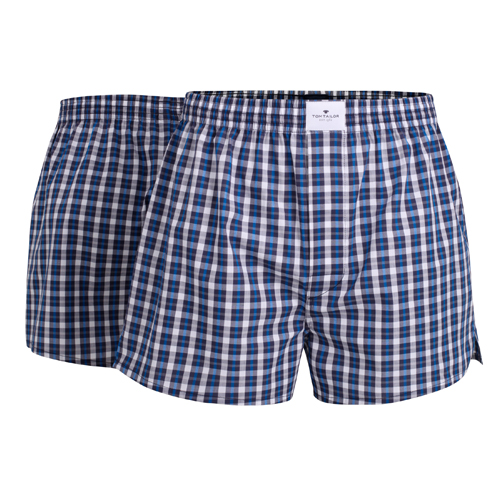 Boxershorts Tom Tailor - 2 Pack - Blå Rutig (1)