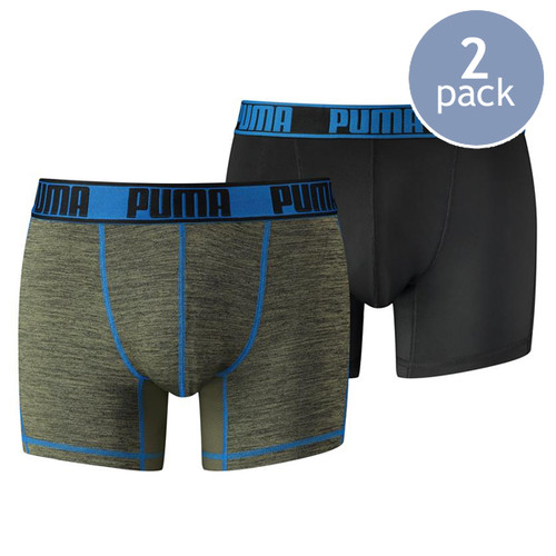 Puma boxershorts grizzly olive / blue (1)